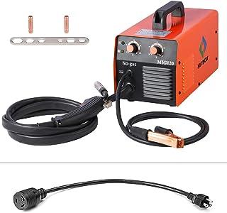 MIG Welder 120AMP 110/220V DC Dual Volt Mini IGBT Inverter Gasless MIG Welding Machine