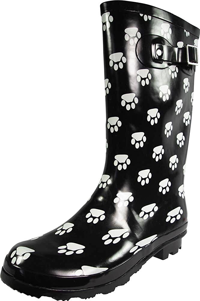 NORTY Women's Hurricane Wellie - Solids free Ma Spring new work one after another Prints and Glossy