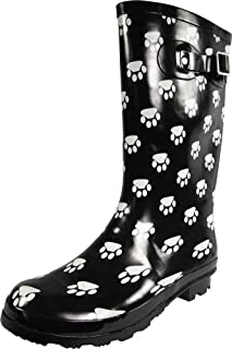 Women's Hurricane Wellie - 14 Solids and Prints - Glossy & Matte Waterproof Mid-Calf Rainboots