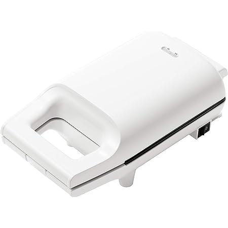 [山善] 具だくさん 耳付きで焼ける ホットサンドメーカー 一人暮らし 新生活 ホワイト YSB-S420(W) [メーカー保証1年]