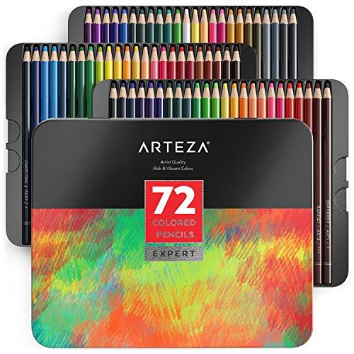 Arteza - Estuche de lapices de colores para profesionales (caja de 72)