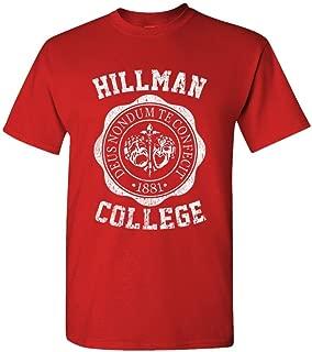 Hillman College - Retro 80s Sitcom tv - Mens Cotton T-Shirt, 3XL, Red