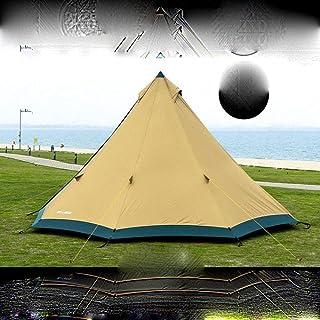 3F GEAR TRIBE Pyramid Tipi-tält utomhus 4–6 personer stort tält 40 D/210 T vindtätt tält 4 säsonger med snökjol
