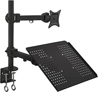 Mount-it! Single Laptop/Notebook Desk Mount/Stand with Fully Adjustable Extension Arms and Clamp (MI-3352MN)