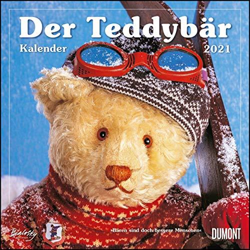Der Teddybär 2021 - Broschürenkalender - Wandkalender - Format 30 x 30 cm