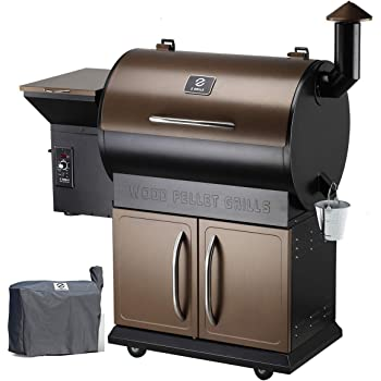 Z Grills Wood Pellet Grill Smoker with 2020 Newest Digital Controls ,700 Cooking Area 8- in-1 Grill, Smoke, Bake, Roast, Braise ,Sear,Char-grill and BBQ for Outdoor