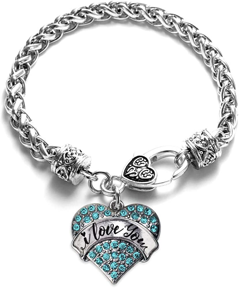 Inspired Silver Brand new - Pave Purchase Heart with Zi Charm Bracelet Cubic