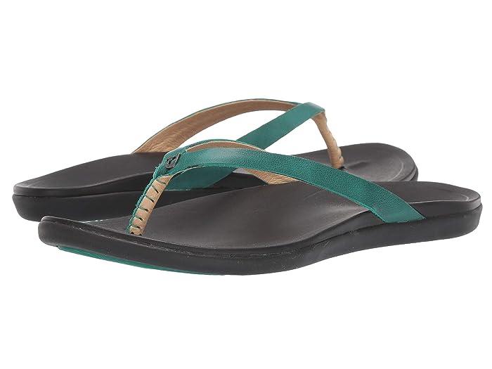 Ho'opio Leather  Shoes (Paradise/Black) Women's Sandals