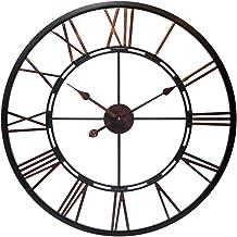 ساعة حائط معدنية كبيرة الحجم بحجم 71.12 سم من إنفينيتي إنسترومينتس فيوجن للمعيشة، المطبخ، غرفة الطعام، غرفة النوم، 76.2 سم...