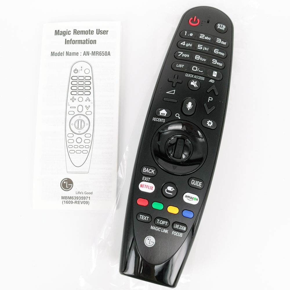 Calvas AN-MR650A - Mando a Distancia para LG TV Magic Smart TV con Control Remoto para Select 2017 UJ63 Series Fernbedienung: Amazon.es: Bricolaje y herramientas