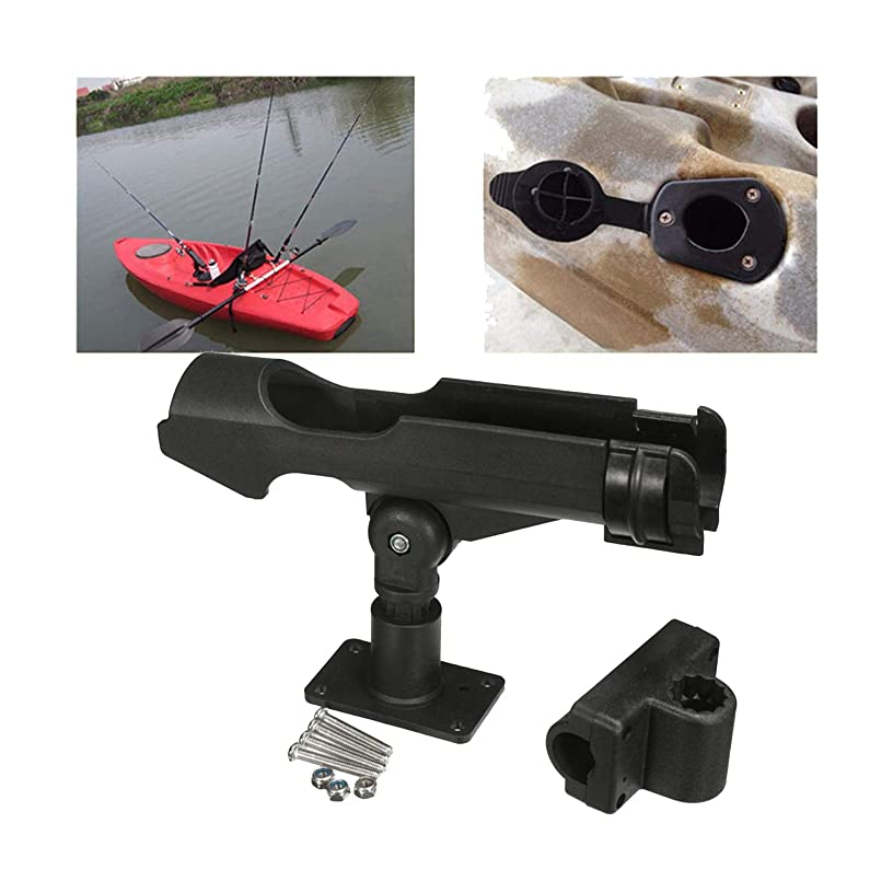 INDEPENDENT-NEWBIE Rowing Boats Accessory Tool 360 Degrees Rotatable Fishing Rod Holder Bracket with Screws for Boat Assault Boats Kayaking Yacht