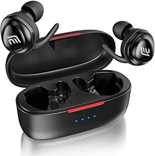 $29 » Bluetooth Headphones, FIRACORE 5.0 True Wireless Earbuds Deep Bass HiFi Stereo Sound Bluetooth Earphones 16H Playtime Mini in Ear Headset with Charging Case and Built in Mic for Sports Running