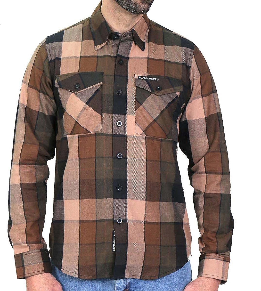 Hot Leathers FLM2013 Men's 'Sidewinder' Flannel Long Sleeve Shirt