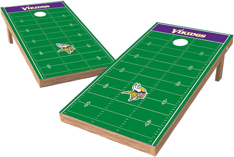 Wild Sports NFL 2' x 4' Football Field Authentic Cornhole Game Set