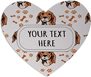 Neoprene Custom Serbian Hound Dog Breed Pattern A Mouse Pad Heart Shape Office Mouse Mat