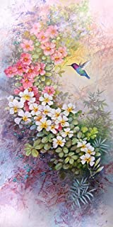 Flowers and Hummingbird print of Watercolor Painting - Nature, Flowers, Peaceful Gifts, Gift for Ladies