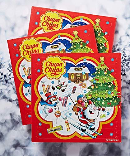 Chupa Chups X-mas Calendar, Calendario Avvento con Caramelle e Lecca-Lecca, Lollipop e Caramelle Assortite, Pacco da 3 x 24 Sorpresine