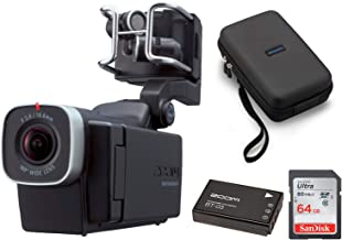 Zoom Q8 Handy Video Recorder w/SCQ-8 Carrying Case, 64GB SD Card,BT-03 Battery Bundle