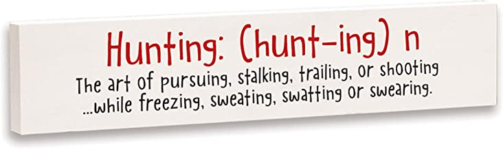 product image for Imagine Design Relatively Funny Country Living Hunting: The Art of Pursuing, Stick Plaque, Red/Black/White