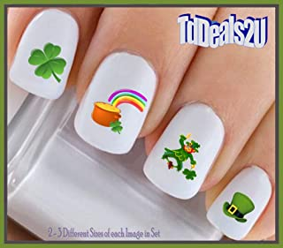 Holiday St. Patricks Day - Leprechauns Pot of Gold WaterSlide Nail Art Decals - Highest Quality! Made in USA