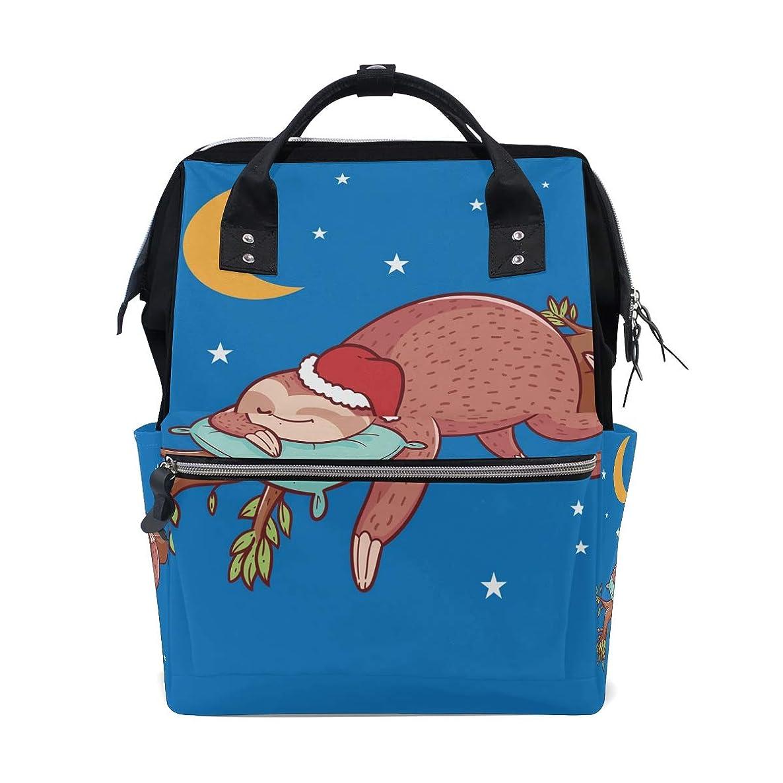 Cute Cartoon Sleeping Sloth Moon School Backpack Large Capacity Mummy Bags Laptop Handbag Casual Travel Rucksack Satchel For Women Men Adult Teen Children