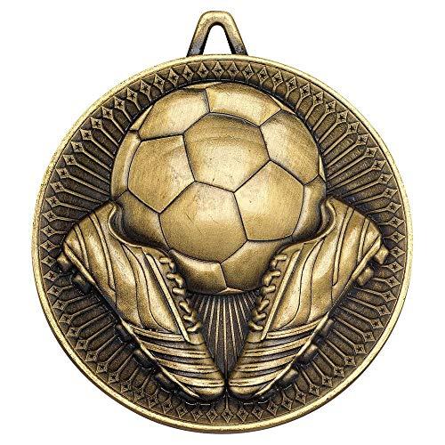 Lapal Dimension Medalla de fútbol de lujo – Oro envejecido 6 cm