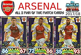 arsenal man of the match match attax