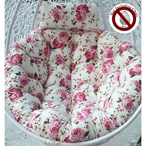 Round Mamasan/Papasan Type Cushion Fluffy Cotton Seat Cushion Ergonomics Pillow Coccyx Swing Chair Cushion Lumbar Back Cushion A++ (Color : Pattern C)