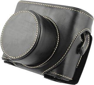 Market&YCY Custodia protettiva in pelle PU con fotocamera tracolla, Per Fuji Fujifilm FinePix X10 X20 - Nero