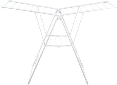 AmazonBasics Stainless Steel Clothes Drying Stand, Max weight capacity: 3.5 Kg (Foldable, White)