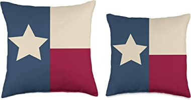 I Love Texas Pillows And Totes Texas Flag Lonestar State Throw Pillow, 16x16, Multicolor