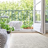 Madison Park Dakota Vienna Woven Turkish Area Rugs for Living Room, Indoor Dining Accent Modern Home Décor, Ultra Soft Floor Carpets for Dining Room, 5x7 ft, Distressed Tiled Beige