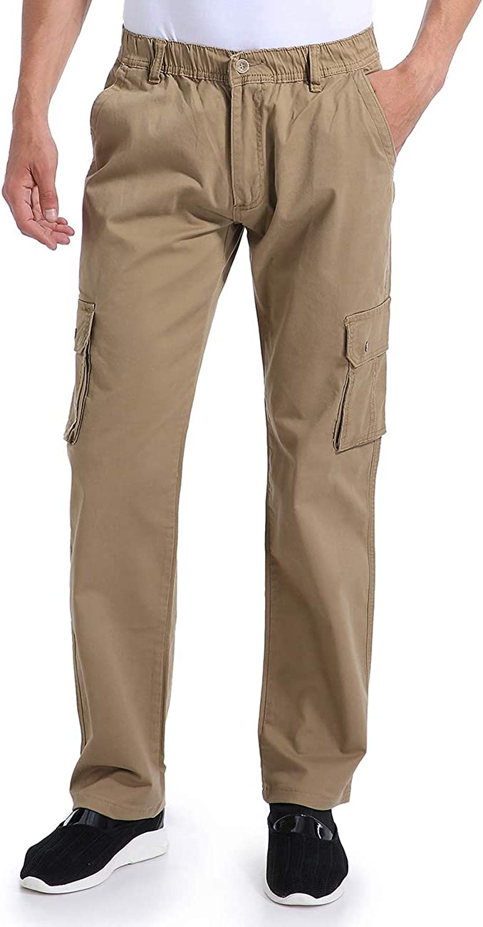 Eaglide Selling and selling Men's Outdoor Elastic Cargo Cotton Pant Pockets Ta Be super welcome Mens