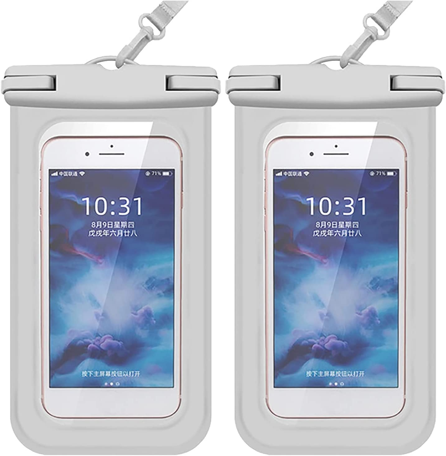 Waterproof Phone Pouch, Universal IPX8 Waterproof Case, for Swimming Lanyard Pouch Protector Perfect Underwater Photography Up to 7.0 inch Cellphone Dry Bag for Beach Pooling Travel Outdoor