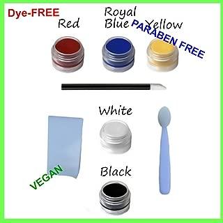 8pc Natural & Organic Face Paint Set (Vampire Goth Clown) DYE-free VEGAN Costume Makeup Kit
