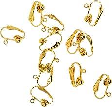 #N/A 12 Stuks Clip-On Earring Converters met Open Loop DIY-resultaten - Goud