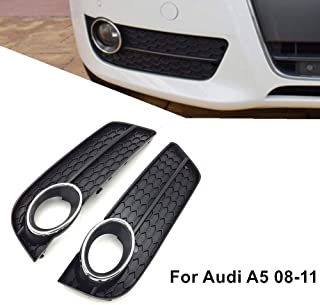 Front Bumper Lower Fog Light Lamp Grille Grill Cover Chrome for Audi A5 2008-2011