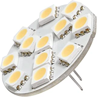 Dream Lighting Low Power 12V DC LED G4 Warm White Back Pin Down Spot Cabinet Light Motor Home Caravan Vehicle Auto Car Boa...