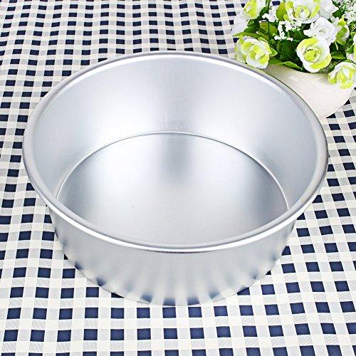 4/5/6/8/9 pouces en alliage d'aluminium moules à gâteaux pan cake protection contre les fuites de revêtement anti-adhésif de mariage ronde moule de cuisson ronde (8 pouces)