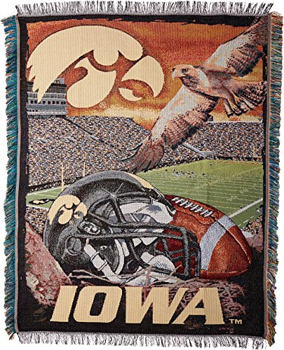 Iowa Hawkeyes NCAA Woven Tapestry Throw (Home Field Advantage) (48x60 )