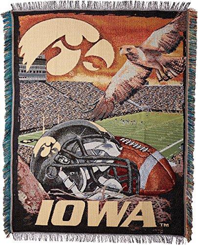 Iowa Hawkeyes NCAA Woven Tapestry Throw (Home Field Advantage) (48x60 )