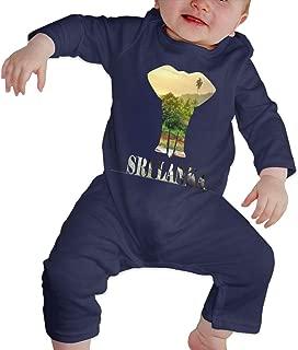 A1BY-5US Newborn Infant Baby Girls Boys Bodysuits Sri Lanka Elefant Holiday Cotton Long Sleeve Romper Suit