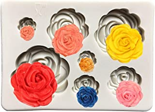 Roses Cake Fondant Mold,Roses Flower Siliconaft,Cupcake Topper,Polymer Clay,Candy Mold for Cake Decoration,Chocolate Mold, Sugarcr Mold