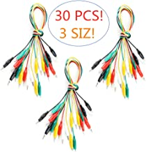 Eiechip Alligator Clips Electrical Insulated Alligator Clips with Wires Test Cable Double-Ended Clips Alligator Clips Insulated Test Cable5 Colors 30Pieces 20inches
