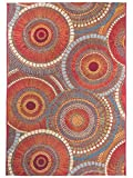 Benuta Artis - Alfombra para Exteriores (Fibra sintética, 80 x 165 x 2 cm), Color Naranja