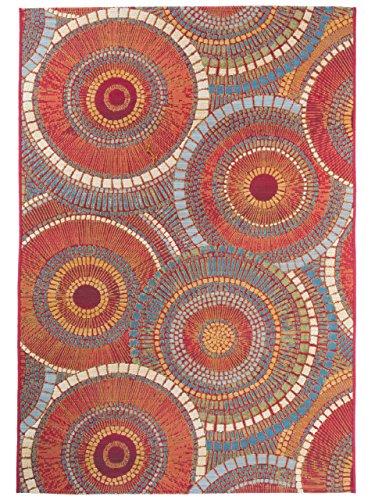 Benuta Outdoor-Teppich Artis, Kunstfaser, Orange, 80 x 165.0 x 2 cm