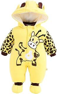 Minizone Baby Overall Mit Kapuze Footies Strampler Schneeanzüge Karikatur Jumpsuit Unisex Winter Kleidungsset, 6-9 Monate