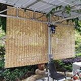 L-DREAM Persianas De Caña Persianas De Bambu Exterior, Estores Enrollables - Hogar Sombra, Fácil De Limpiar Y Colgando, 80cm 130cm 140cm, Cortina De Paja Estores De Bambú para Ventanas