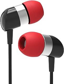 ECCI PR200 MK2 HiFi in-Ear Headphones, Black and Red