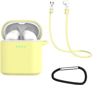 Auleset Bärbart fodral trådlös Bluetooth hörlurar silikon hörlurar skyddande fodral kompatibel med Honor FlyPods – gul
